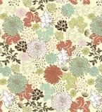花卉无缝的样式,设计 库存照片