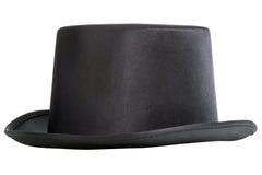 黑高顶丝质礼帽 库存照片