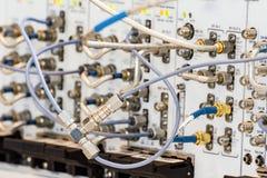 高频率缆绳连接器  库存图片