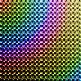 高饱和色的全息图贴纸 免版税库存照片