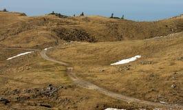高高山牧场地在卡姆尼克,斯洛文尼亚附近的Velika Planina风景风景在春天 库存照片