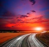 高高速公路速度 免版税库存照片