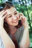 高兴的女孩 免版税库存照片