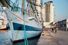 高05格丁尼亚9月的船 免版税库存照片