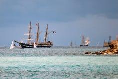 高2010艘种族赛船会的船 免版税库存图片