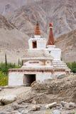 高Shanti Stupa在Chemdey佛教徒修道院里 库存照片