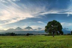 高Tatras在斯洛伐克 图库摄影