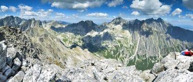 高Tatras小山全景在斯洛伐克 免版税库存照片