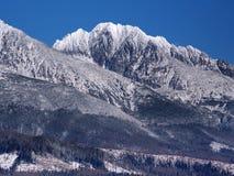 高Tatras断层块在冬天 图库摄影