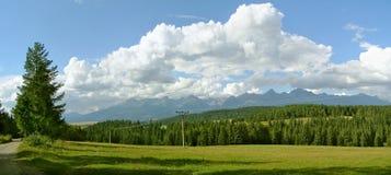 高Tatras斯洛伐克和全景峰顶 免版税库存照片
