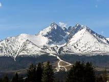 高Tatras的Lomnicky峰顶 库存图片