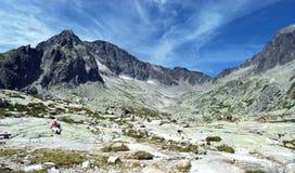 高Tatras,斯洛伐克全景  免版税图库摄影