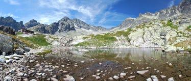 高Tatras,斯洛伐克全景  免版税库存照片