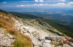 从高Tatras,斯洛伐克的看法 库存照片