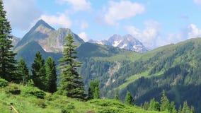 高tauern山在提洛尔奥地利 积雪的山 股票录像