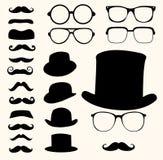 髭帽子玻璃 库存照片