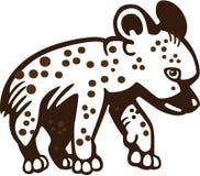 鬣狗崽 库存例证