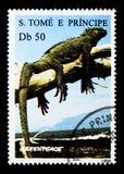 鬣鳞蜥,绿色和平周年serie,大约1996年 库存图片