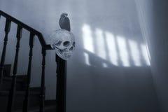 鬼和超现实的台阶 免版税库存照片