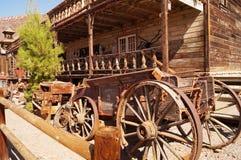 鬼城白棉布,加州,美国 免版税库存照片