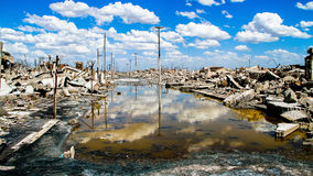 鬼城的废墟在阿根廷 免版税库存图片