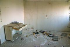 鬼城的老被放弃的商店 库存照片
