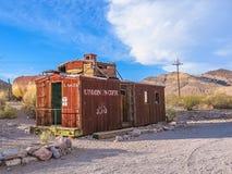 鬼城:老守车,死亡谷,美国 免版税图库摄影