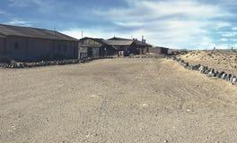 鬼城- Kolmanskop -多数普遍的鬼城在纳米比亚 免版税库存图片