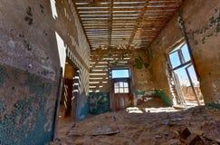 鬼城Kolmanskop,纳米比亚 库存照片