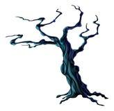鬼的万圣夜树 免版税库存图片