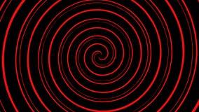 鬼的令人毛骨悚然的螺旋红色&贷方转动和成螺旋形在一个转动的无缝的重复的圈 库存例证
