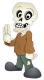 逗人喜爱的骨骼-漫画人物-传染媒介例证 免版税库存照片