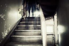 鬼的图在一个hounted房子里 库存照片