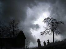 鬼的坟园图表 免版税库存照片