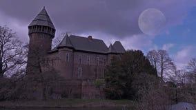 鬼的城堡夜间Linn -克雷菲尔德-德国 股票录像