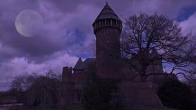 鬼的城堡夜间Linn -克雷菲尔德-德国 股票视频