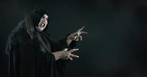 鬼的恶魔荡妇 地狱和恐怖 文本空间 库存照片