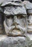 鬼的石面孔 免版税库存图片