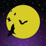 鬼背景的月亮 免版税库存图片