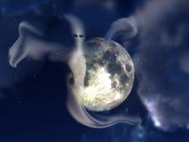 鬼魂和夜空 库存照片