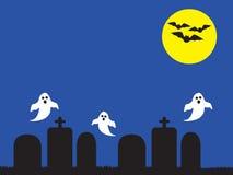 鬼魂在坟园 库存图片