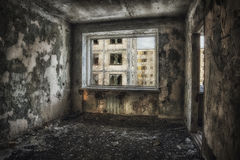 20 2006年鬼魂家居住了围场年不是的pripyat城镇 库存照片