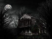 鬼魂房子 免版税库存照片