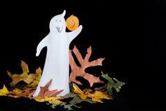 鬼魂水平的万圣节 免版税图库摄影