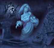 鬼魂的例证 免版税图库摄影