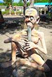 鬼魂雕象在泰国样式地狱 库存图片