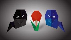 鬼魂origami 免版税图库摄影
