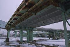 鬼魂Pripyat切尔诺贝利禁区在冬天 库存照片