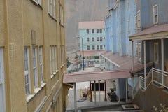 鬼魂Sewell,智利采矿镇  免版税图库摄影