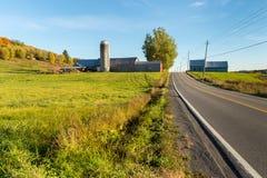 魁北克乡下在秋天 免版税图库摄影
